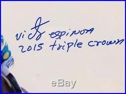 Victor Espinoza American Pharoah Signed Framed Photo 3 Winning Tickets Steiner