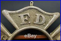 Victorian Fire Department of New York City Handmade Photo Frame with FDNY Sign