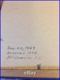 Vintage January 20, 1969 Lyndon B Johnson Framed Personalized Photo Signed