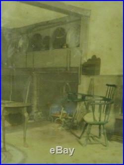 WALLACE NUTTING SIGNED 1913 An Old Colony Home Room