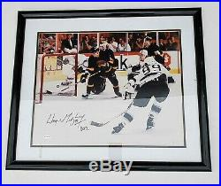 WAYNE GRETZKY signed auto framed 16 x 20 photo withUpper Deck hologram 22 x 25
