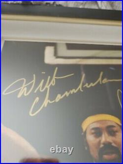 WILT CHAMBERLAIN+ABDUL JABBAR+BIG O SIGNED+FRAMED 16x20 PHOTO RARE
