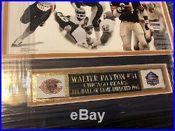 Walter Payton RARE Signed Framed Bears Photo! PSA LOA Included