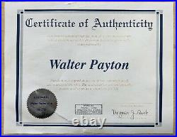Walter Payton Signed Custom Framed 16x20 Photo Autographed Payton Foundation COA