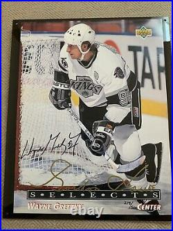 Wayne Gretzky Auto Upper Deck UDA COA Blowup Card Photo Framed Signed /500 1993