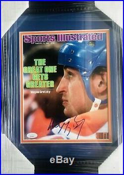Wayne Gretzky Signed 8x10 Photo JSA COA! Oilers Sports Illustrated Cover Framed