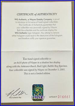 Wayne Gretzky signed Bud Light Bubble Boys shadowbox framed mint auto WGA COA