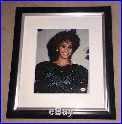 Whitney Houston Authentic Signed Framed Photo Rare