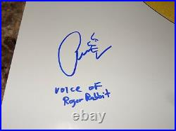 Who Framed Roger Rabbit Rare Signed 1-Sheet Movie Poster Charles Fleischer Photo