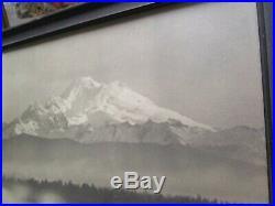 Wilcox Signed Antique Black And White Photo Ansel Adams Era Winter Mountain Wash