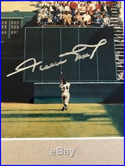 Willie Mays signed Bill Purdom Painting FRAMED and AUTHENTICATED by GAI