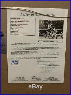 Wilt Chamberlain/Bill Russell Dual Signed Autographed Framed 16x20 JSA COALetter