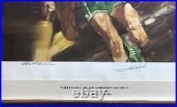 Wilt Chamberlain & John Havlicek Autographed Sports Illustrated Litho