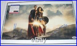 Wonder Woman Gal Gadot Superman Henry Cavill Duo Signed Photo PSA DNA (Framed)