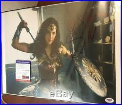 Wonder Woman Gal Gadot signed 12x18 Photo PSA DNA (Framed)