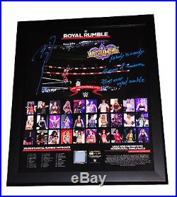 Wwe Asuka Hand Signed Autographed Royal Rumble Framed Plaque With Pic Proof Coa