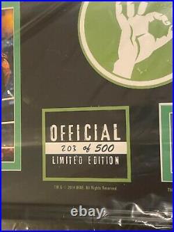 Wwe Wrestlemania 30 John Cena Commemorative Framed Plaque 203 Of 500 Wm30