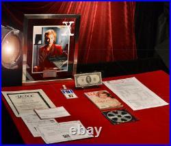 X-FILES Signed AUTOGRAPH Gillian Anderson, PROP Money $, Frame, DVD, COA, UACC