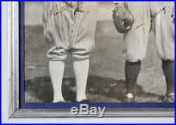 Yankees Babe Ruth & Lou Gehrig Authentic Signed Framed Photo PSA/DNA #AF01030
