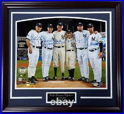 Yankees Perfect Game Signed 16x20 photo Frame Larsen Berra posada Cone Wells Psa