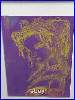 Yoshitaka Amano Final Fantasy Tina Branford Original Picture Watercolor Pencil